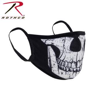 Rothco Reusable 3-Layer Polyester Face Mask, Polyester Face Mask, Reusable Face Mask, Face Mask, Mask, surgical masks, medical face mask, surgical face mask, face cover, best face mask, germ mask, COVID-19, coronavirus, coronavirus protection, antiviral face mask, flu mask, germ mask, antiviral mask, face mask for flu, masks for viruses, earloop face mask, virus mask, earloop mask, face mask antiviral, virus face mask, bandana, skull, skull mask, skull face mask, skull and bones, skeleton, half skeleton,