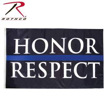 rothco, rothco thin blue line flag, rothco tbl flag, tbl, tbl flag, honor and respect, law enforcement, police officers, respect, pride, police flag, thin blue line accessories, thin blue line gear,