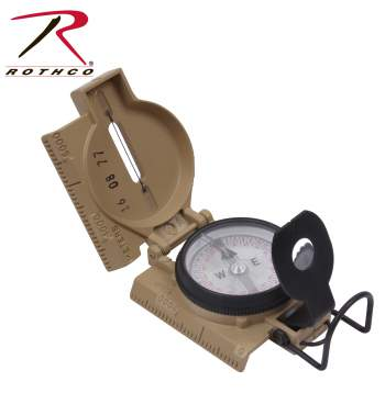 Rothco, Government, Issue, Phosphorescent, Lensatic, Compass, lensatic compass, us military lensatic compass, military lensatic compass, us army compass, us military compass, waterproof housing, US MADE