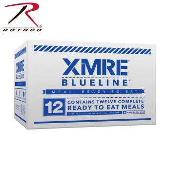 XMRE Blue Line Meals, food rations, emergency food supplies, survival food, Bug out bag, Bug out bag supplies, XMRE, emergency food, survival, ration, emergency rations