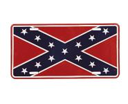 license plate, decorative plate, rebel flag, flags,