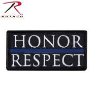 Rothco Honor & Respect Morale Patch, thin blue line flag, police support, back the blue, first responder, police flag, tactical patches, police symbol, morale patches