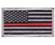 Rothco Thin Red Line US Flag Patch, thin red line flag, tactical patches, thin red line firefighter, firefighter patches, thin red line patch, thin red line american flag patch, thin red line patches, thin red flag, fire fighter, morale patches, military morale patches, morale patches military, tactical patches<br />