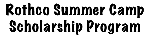 Rothco Summer Camp Scholarship Program