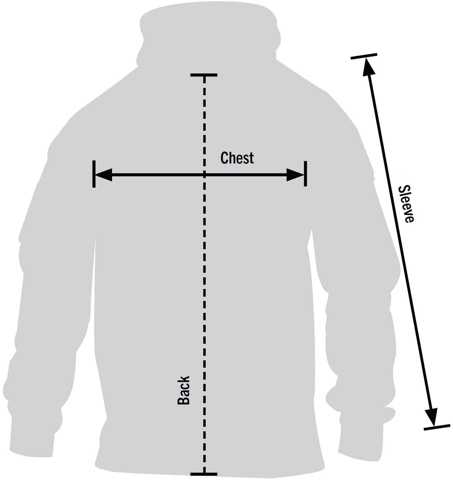Rothco Concealed Carry Hoodie Sizechart