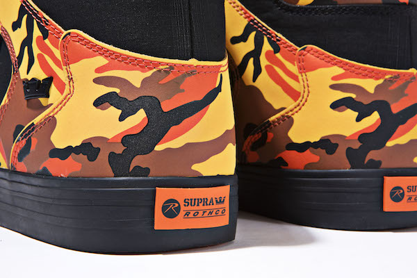 They are detailed with Rothco s savage orange camouflage panels at the  heels 43b78f92ce26