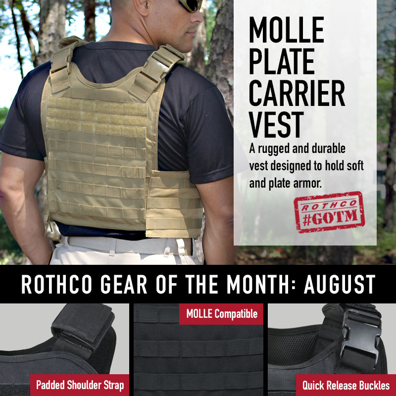 plate carrier vest, rothco molle plate carrier vest