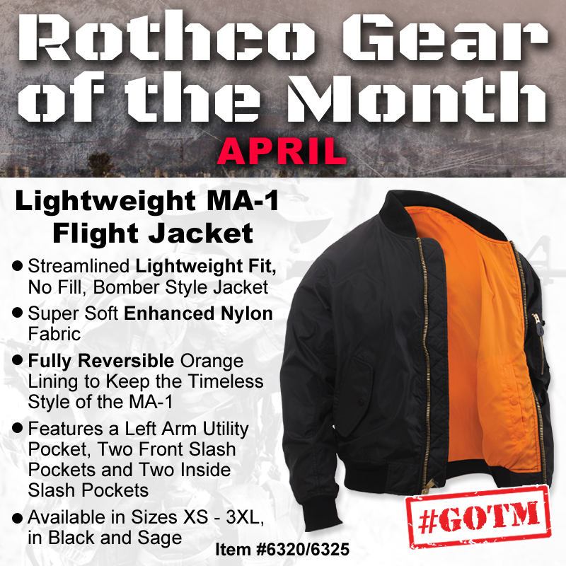 April Gear of the month, flight jacket
