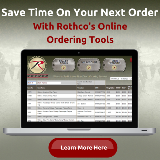 Rothco Online Ordering Tools
