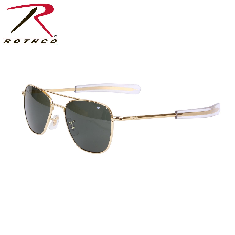 eb9c2a282ab4e Details about 10722   10724 American Optical Original Pilots Sunglasses -  Gold Green