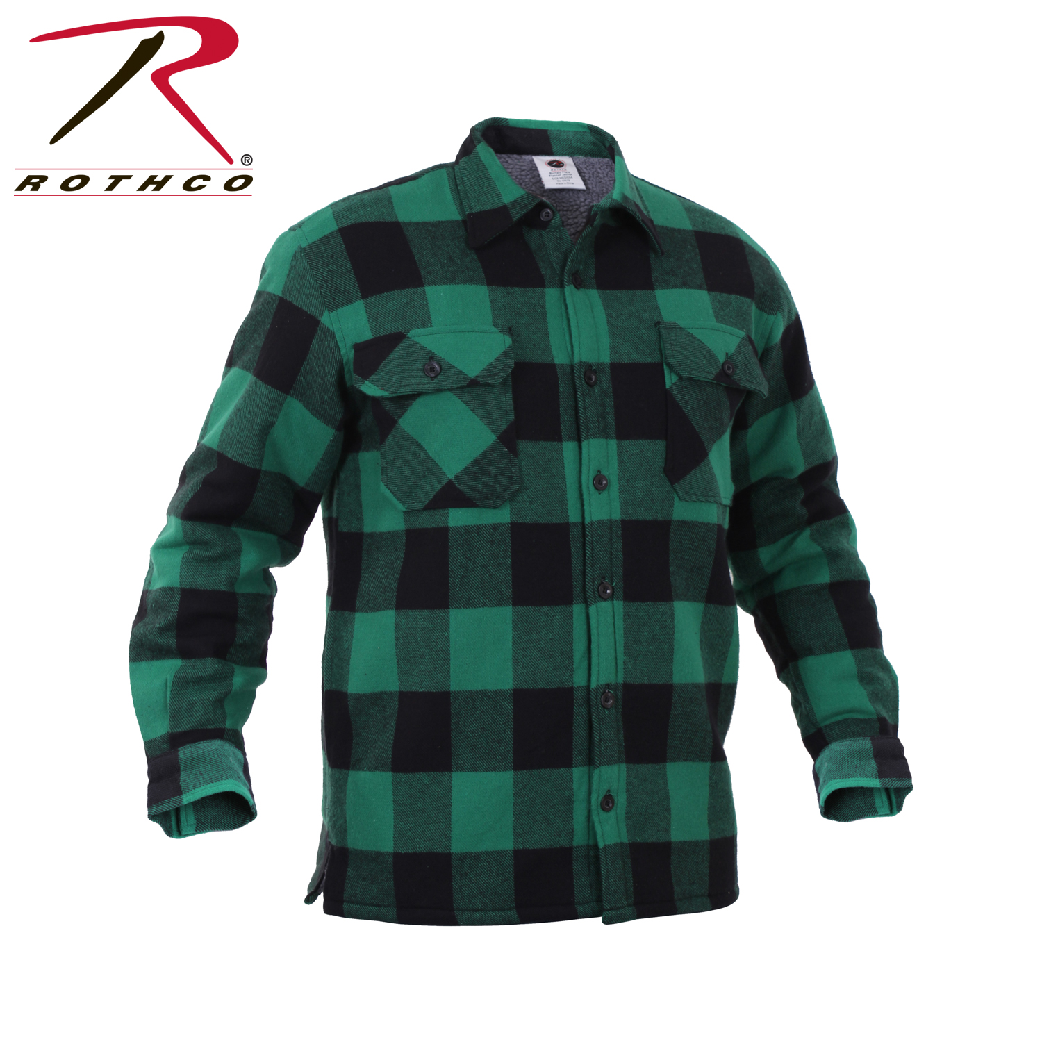 Details about Rothco 3735 Extra Heavyweight Buffalo Plaid Sherpa-lined Flannel  Shirts - Green efe3f7b2758