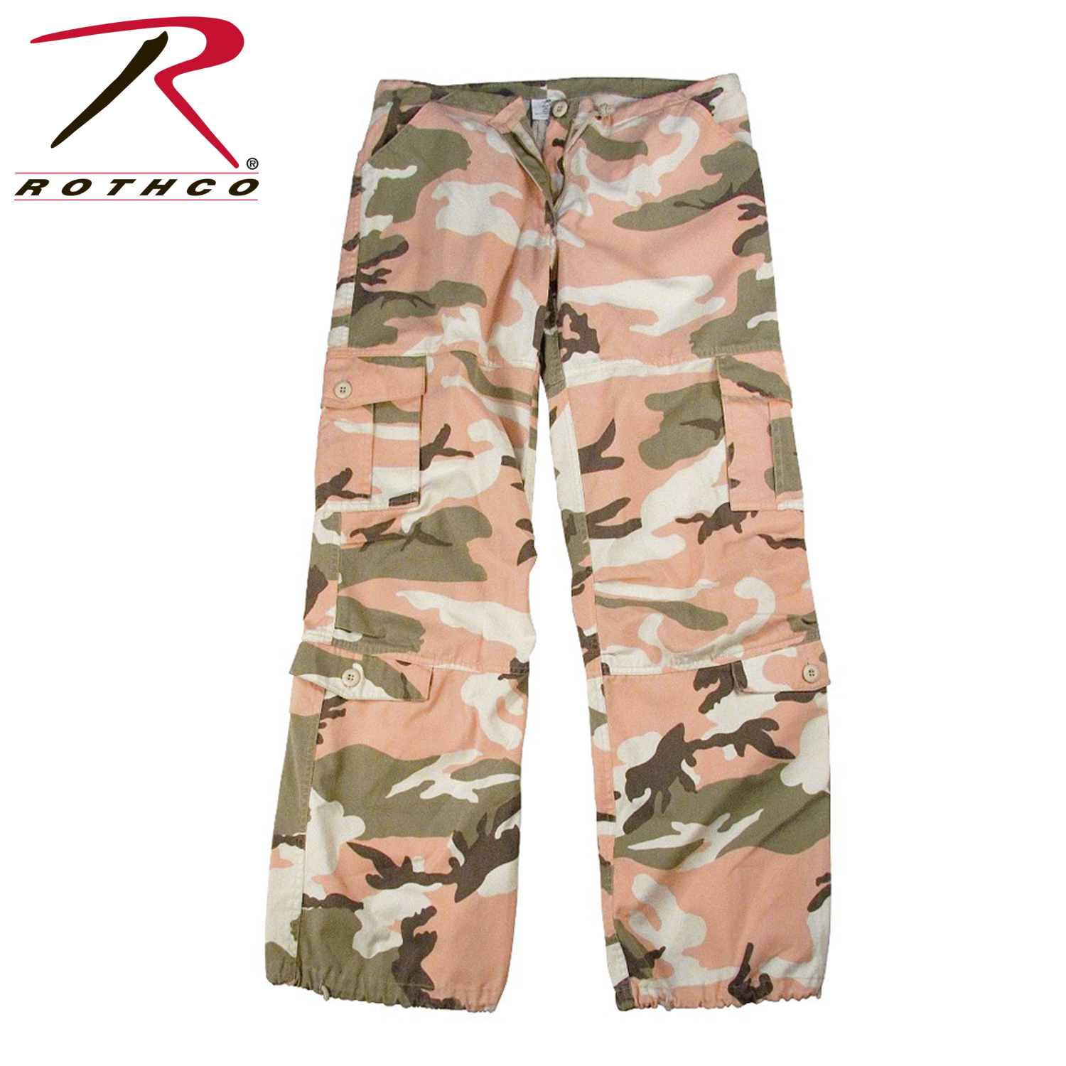 0d93017efdb72 Details about Rothco 3996 Womens Camo Vintage Paratrooper Fatigue Pants - Subdued  Pink Camo