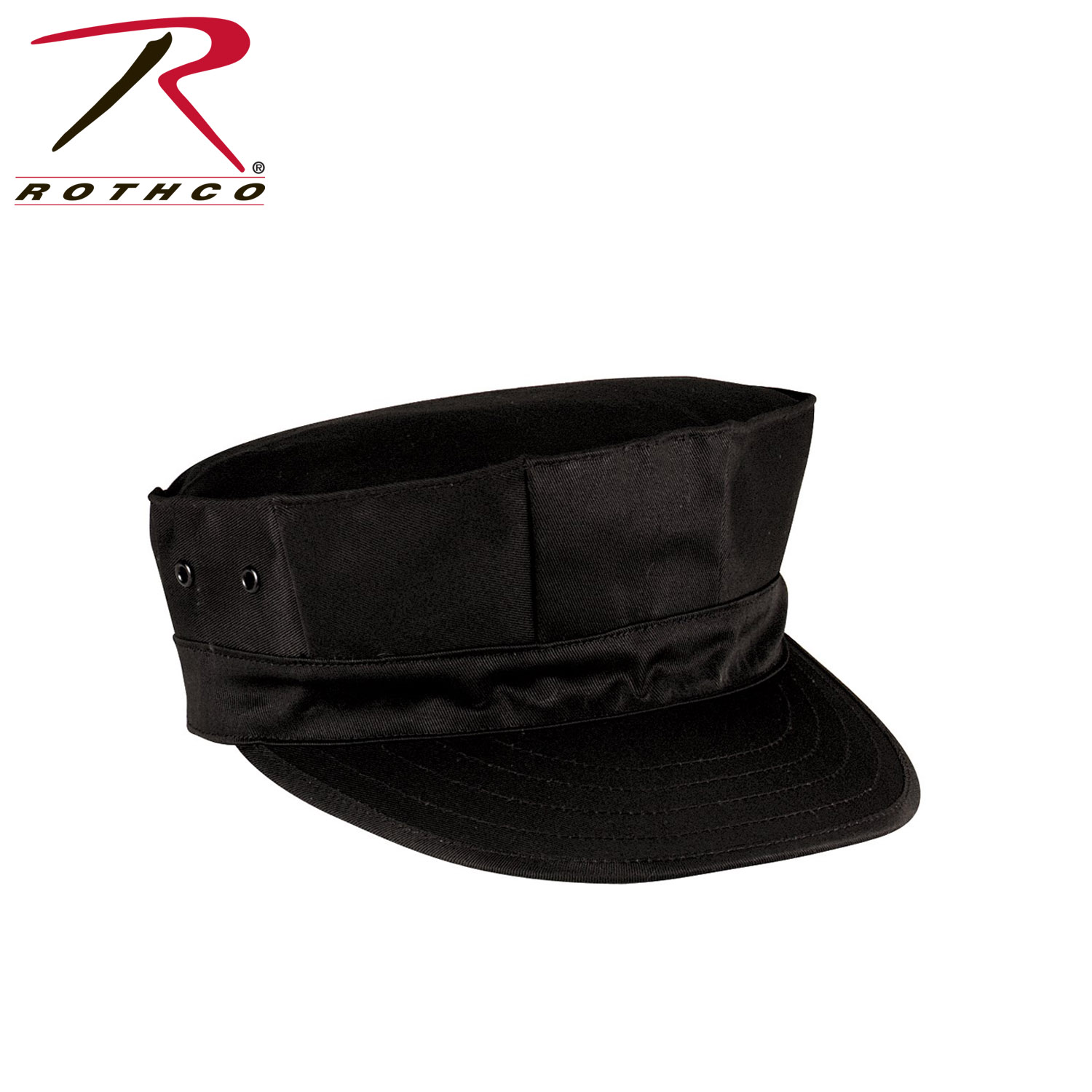 e37d27c7 Details about Rothco 5632 Black Poly-Cotton Marine Corps Cap With No Emblem