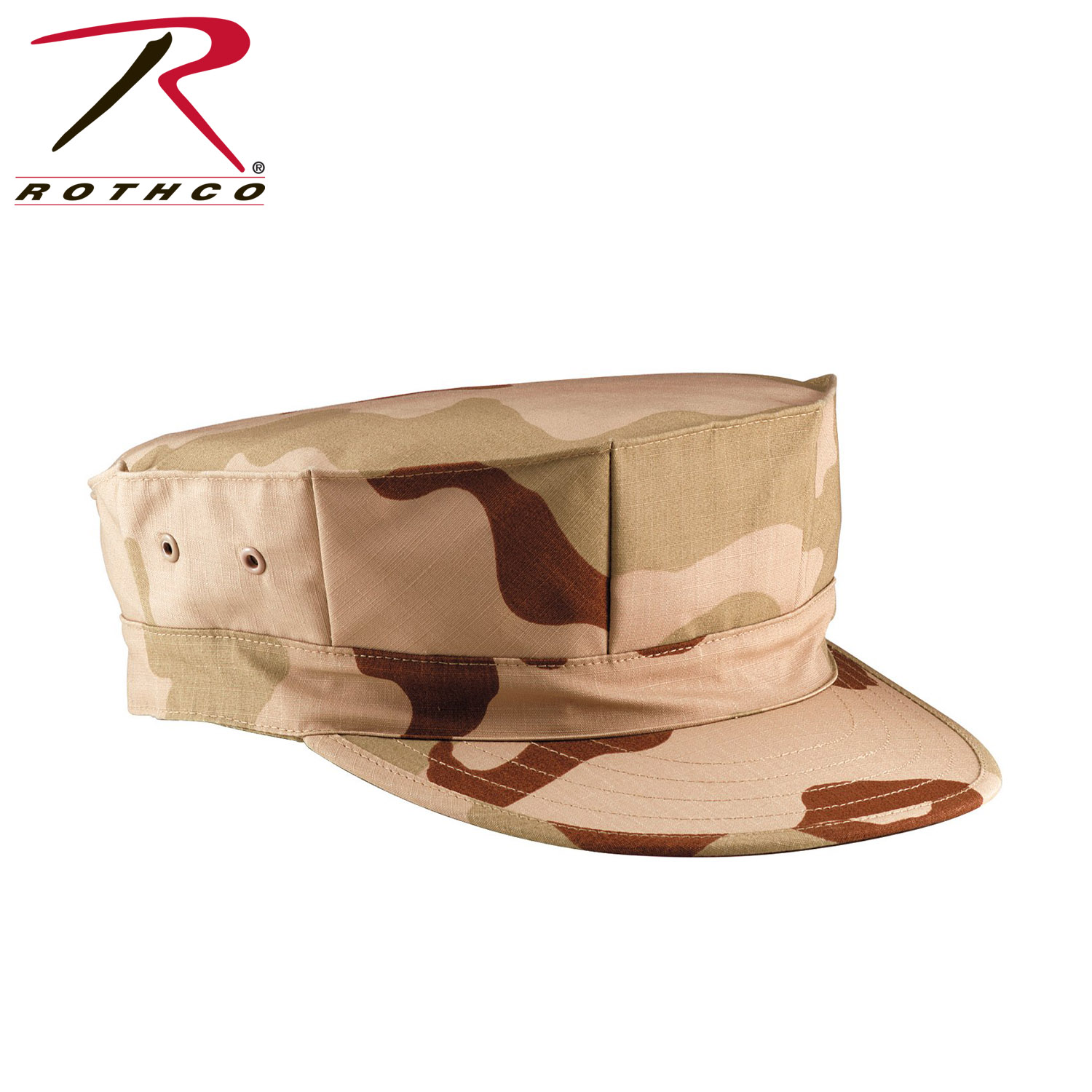 d6bfd1c78c5 5639 Rothco Tri-Color Desert Camouflage Marine Corps Fatigue Cap. Features.  55% cotton   45% polyester ...