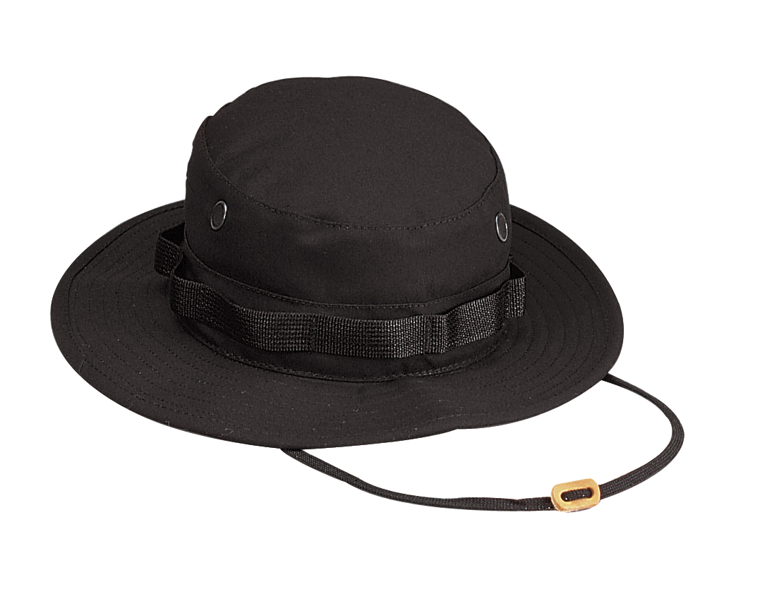 271147201f337 Details about Rothco 5803 Boonie Hat - Black