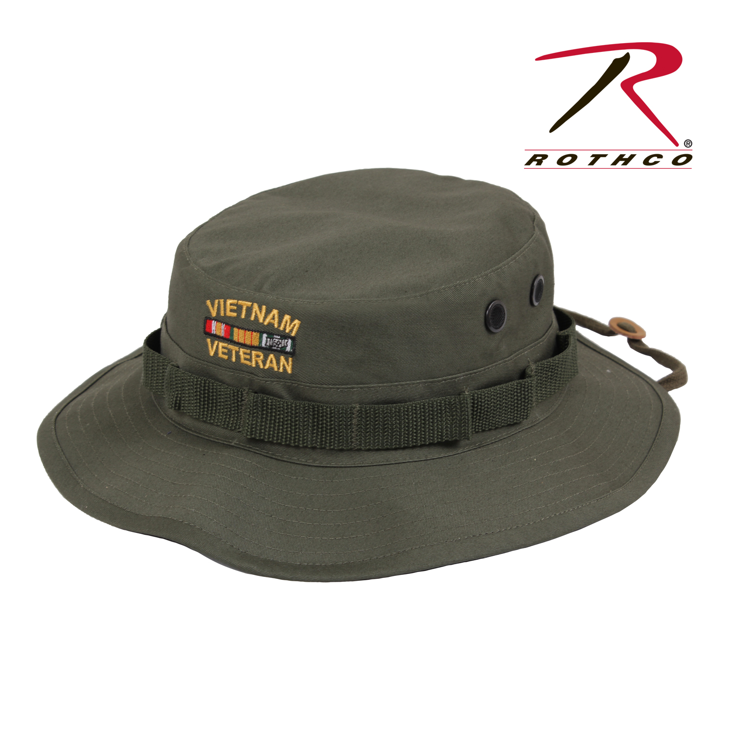 Details about Rothco 5911 Vietnam Veteran Boonie Hat - Olive Drab dae35eaea84