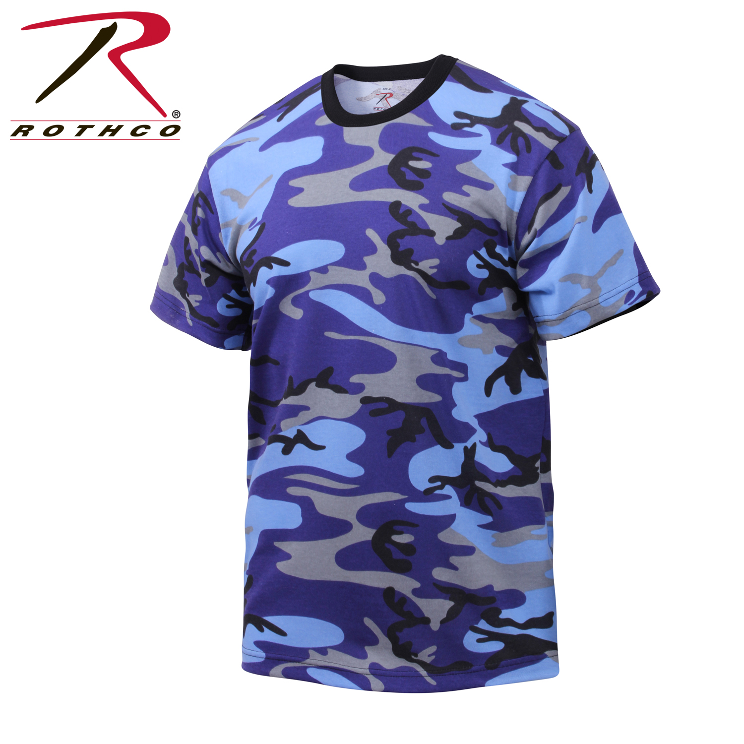 Details about Rothco 60173 Colored Camo T-Shirts - Electric Blue Camo 889fbe23995