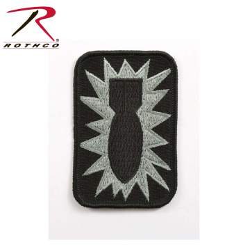 patches, bomb patch, bomb image, patches, iron on patch, iron-on patch, military patches, uniform patches, army patches