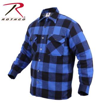 Rothco,Extra Heavyweight,Brawny,Sherpa-lined,Flannel,Shirts,lined flannel shirts,flannel shirt,fleece lined flannel shirt, red plaid,white plaid ,blue plaid,black,hunting shirts, brawney shirts, Heavyweight Flannels,Buffalo Plaid, button up shirt, casual tops, buffalo plaid, plaid shirts, workwear shirts, outdoor shirts,