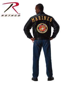 Rothco,Marines,leather jacket,leather,jacket,cold weather jacket,outerwear,zip up jacket,winter jacket,marines jacket,marines coat,winter coat,leather coat,biker jackets,bomber jackets