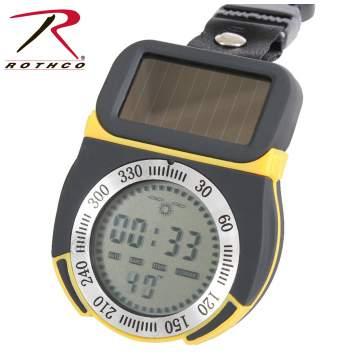 Rothco, Solar, Powered, Multi Function, Digital, Compass, Digital Compass, rothco compass, solar compass, solar powered compass