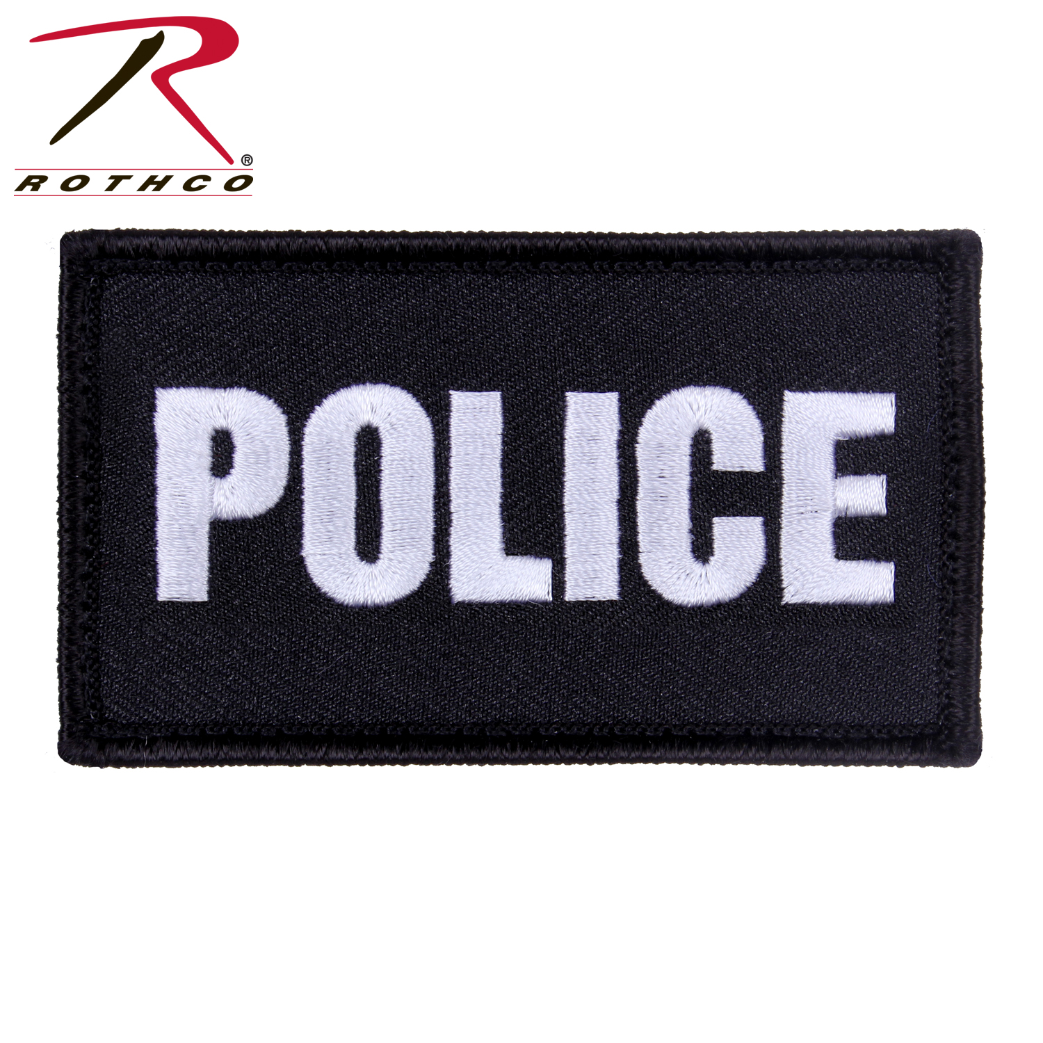 Rothco Police Patch with Hook Back 62424df74993