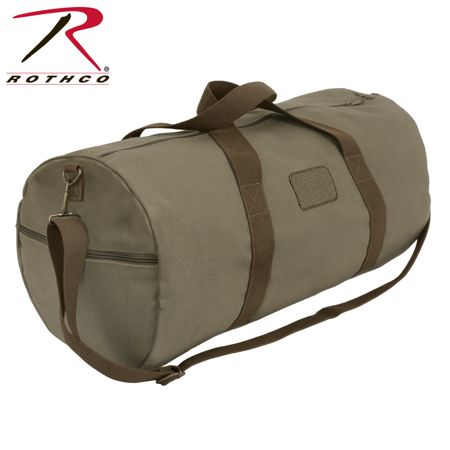 3d8168129 Rothco Two-Tone Shoulder Duffle With Loop Patch