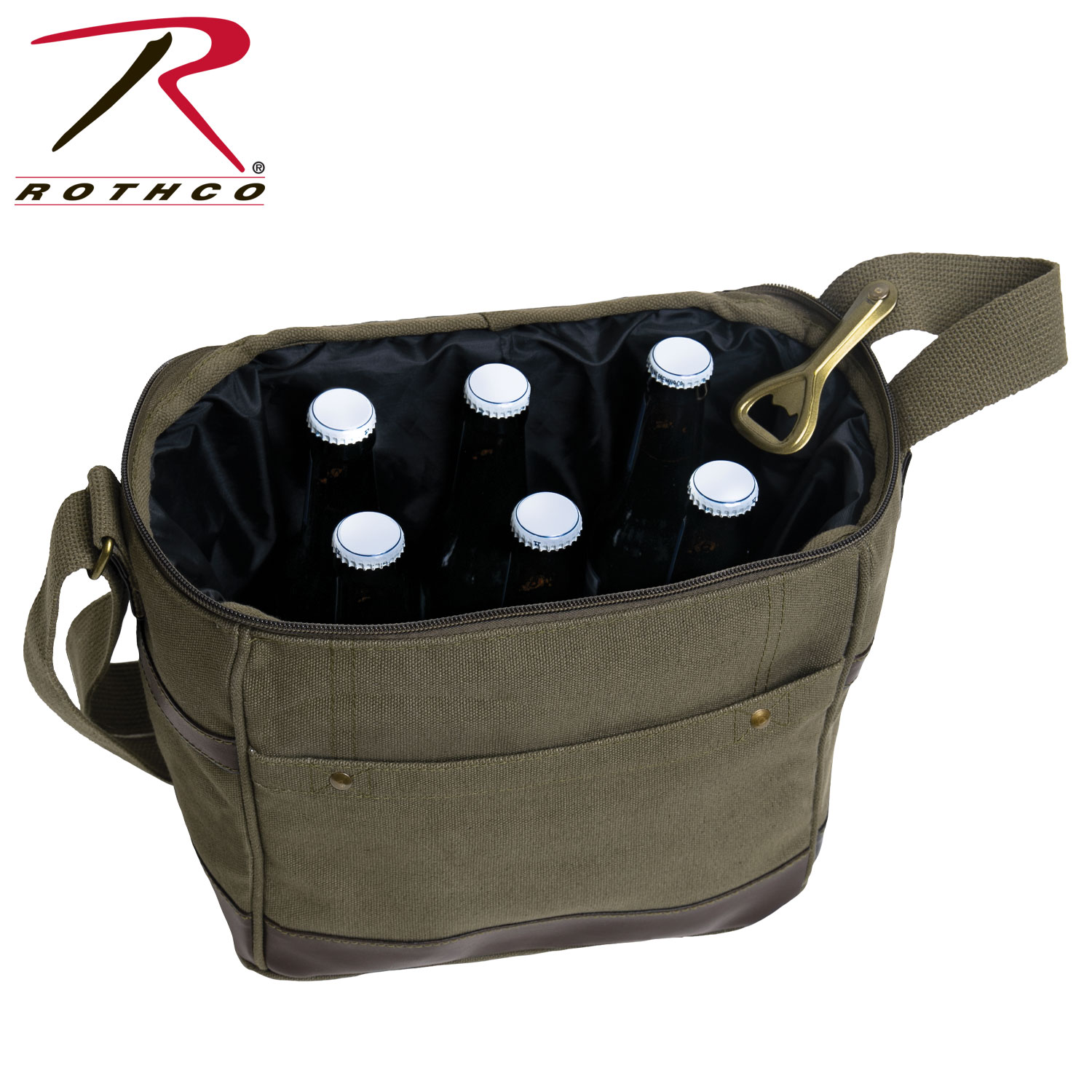 41426d00d Rothco Canvas Insulated Cooler Bag