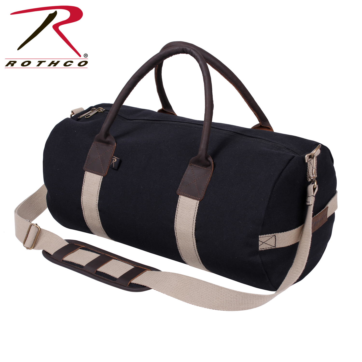 36b8cbd9a505 Rothco Canvas   Leather Gym Duffle Bag