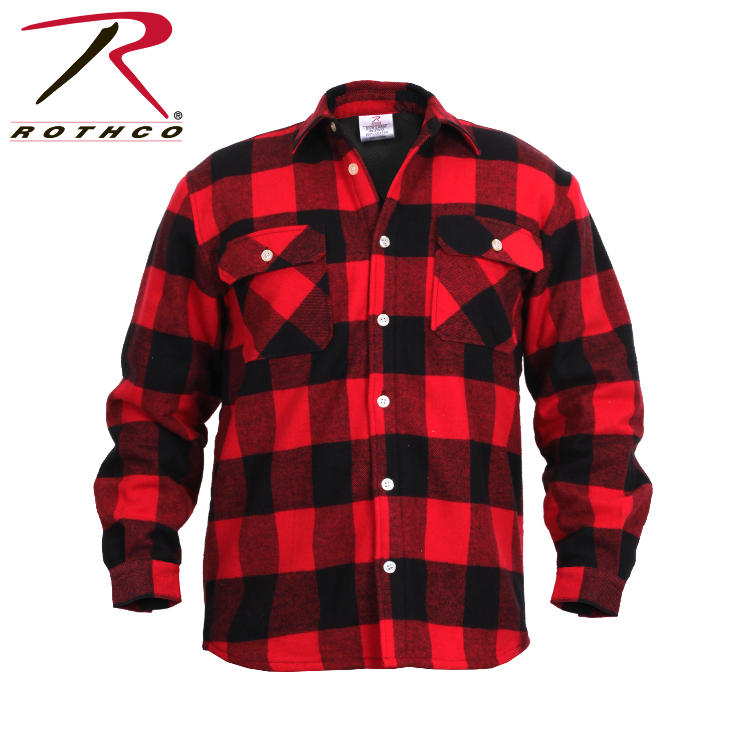 a781bba77231b Rothco Fleece Lined Flannel Shirt