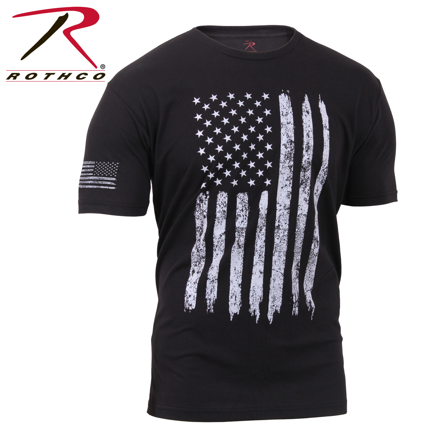 d8080a8234 Rothco Distressed US Flag Athletic Fit T-Shirt
