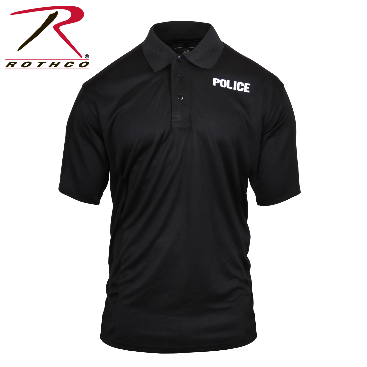 Rothco moisture wicking public safety polo shirt for Moisture wicking golf shirts