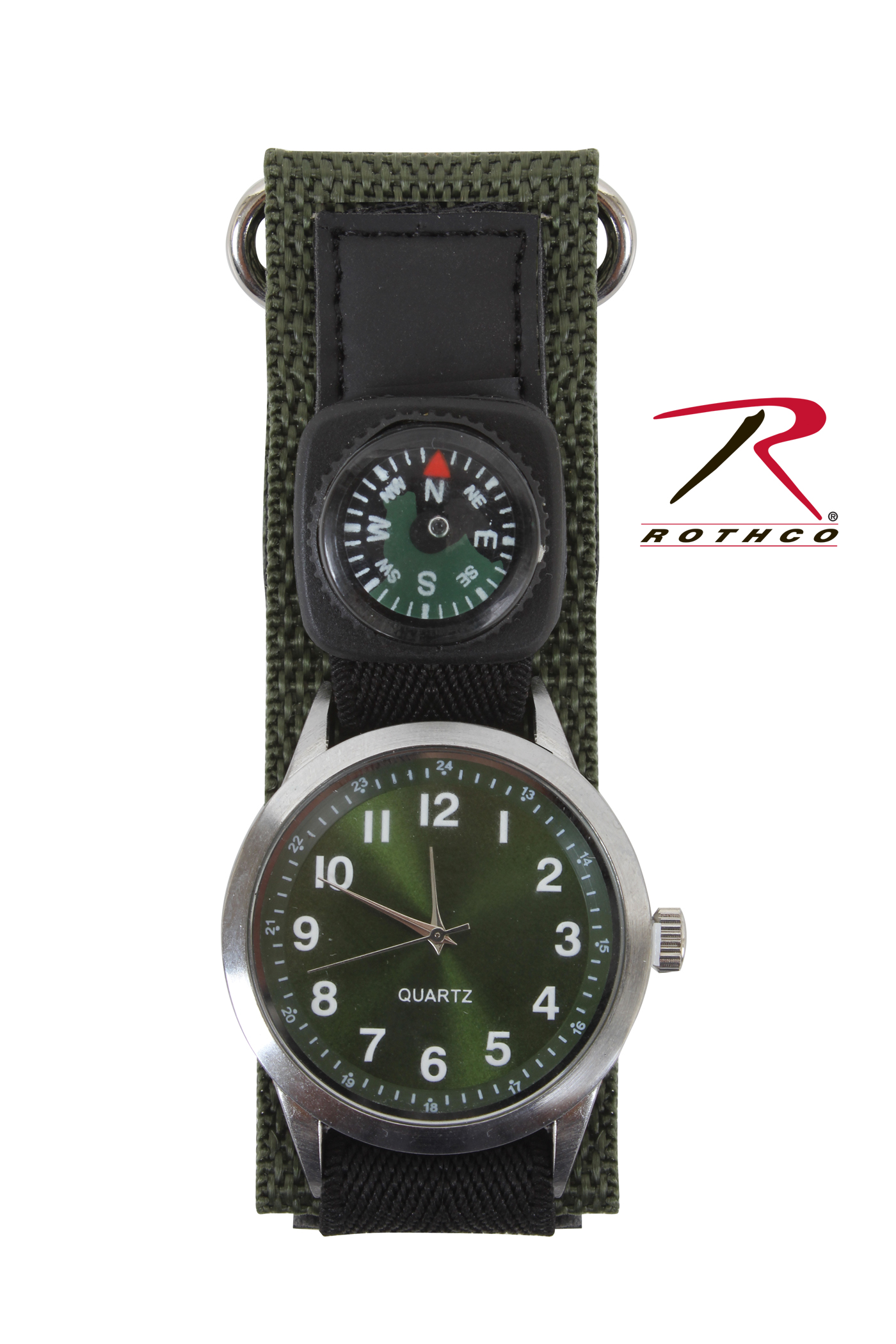 Rothco watch with compass olive drab for Watches with compass