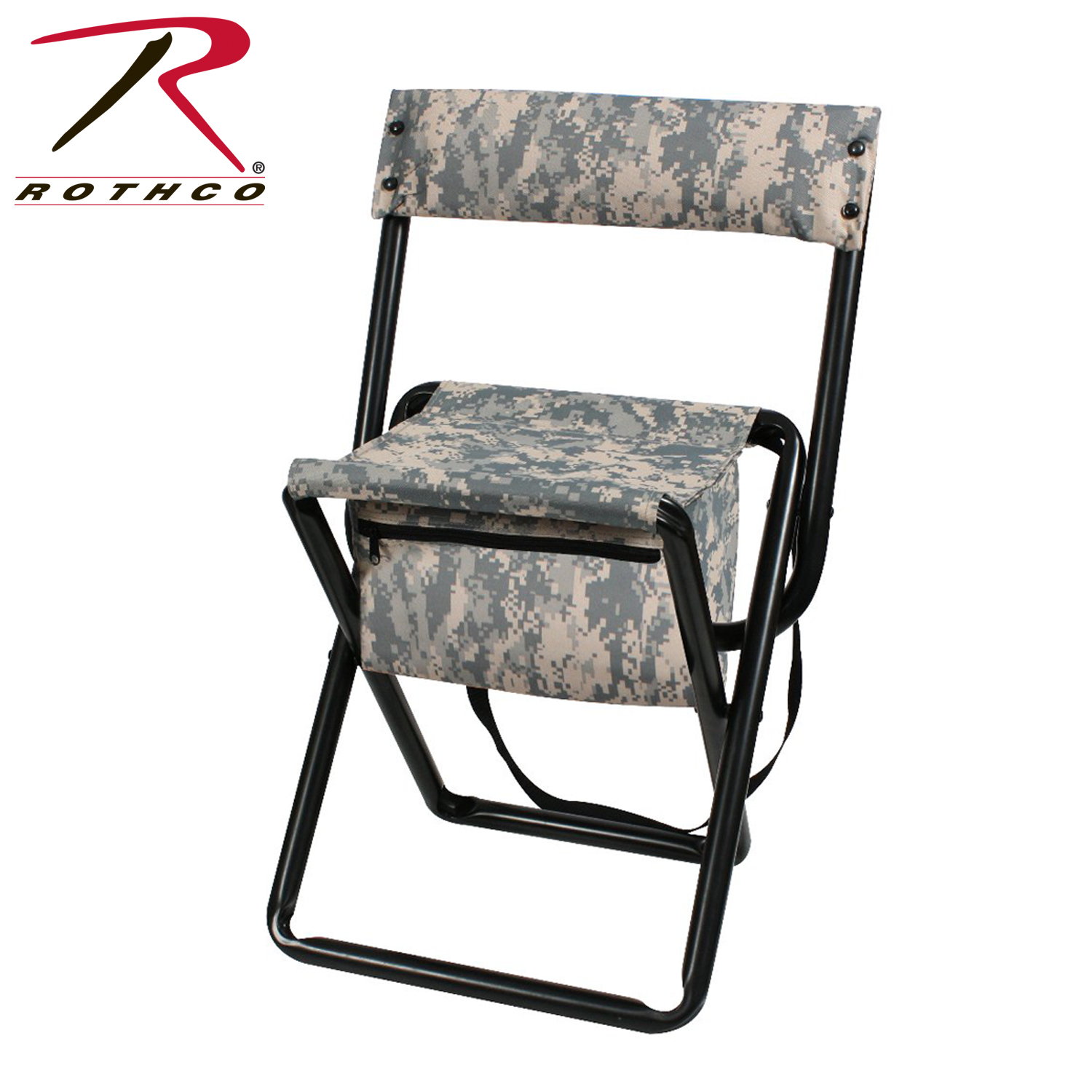 Rothco Deluxe Camo Stool With Pouch Back