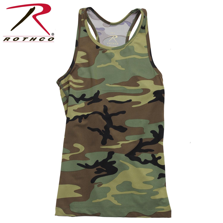 53173808547 Rothco Womens Camo Workout Performance Tank Top