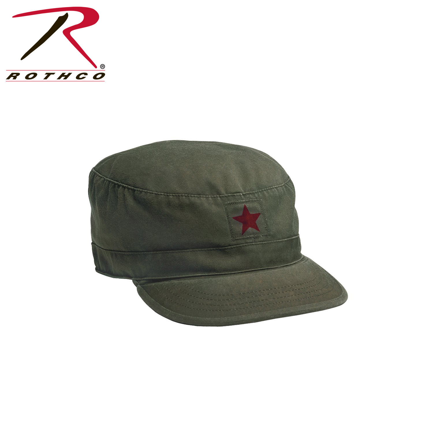 Rothco Vintage Fatigue Cap with Red Star 1cfb45a1623
