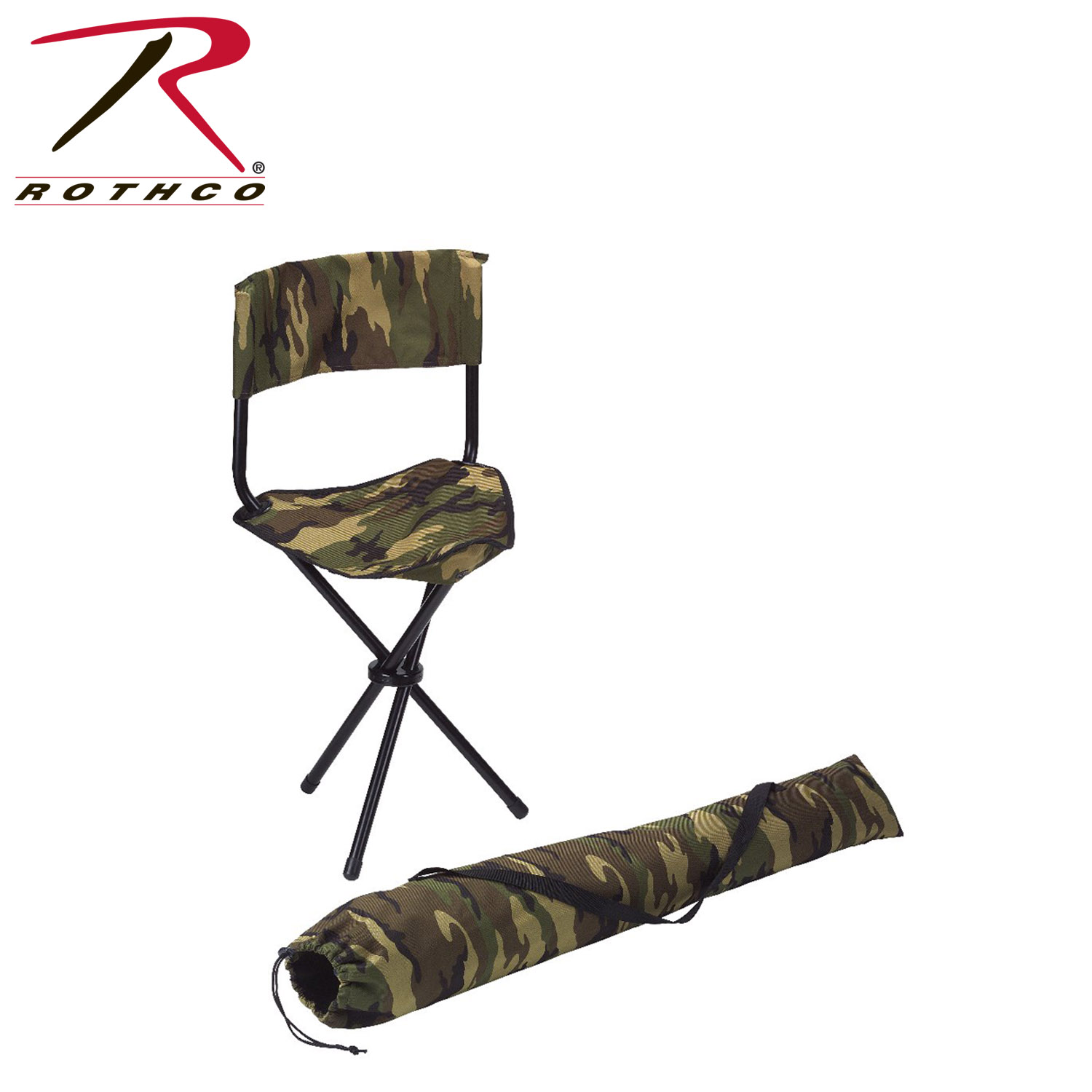 Rothco Collapsible Stool With back