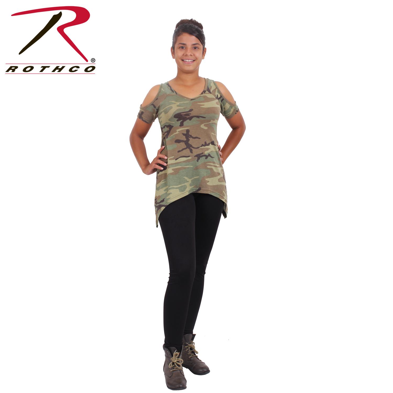 23ec6592e Rothco Womens Camo Cold Shoulder Top