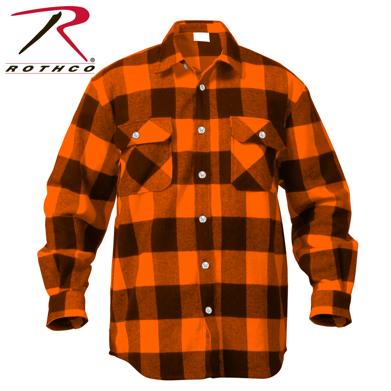 Loading zoom - Rothco Extra Heavyweight Buffalo Plaid Flannel Shirts