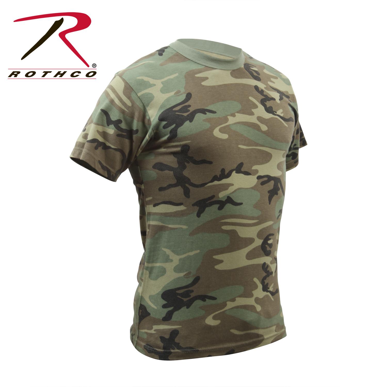 Details about Rothco 4777 Woodland Camo Vintage T-Shirt dc825e26e23