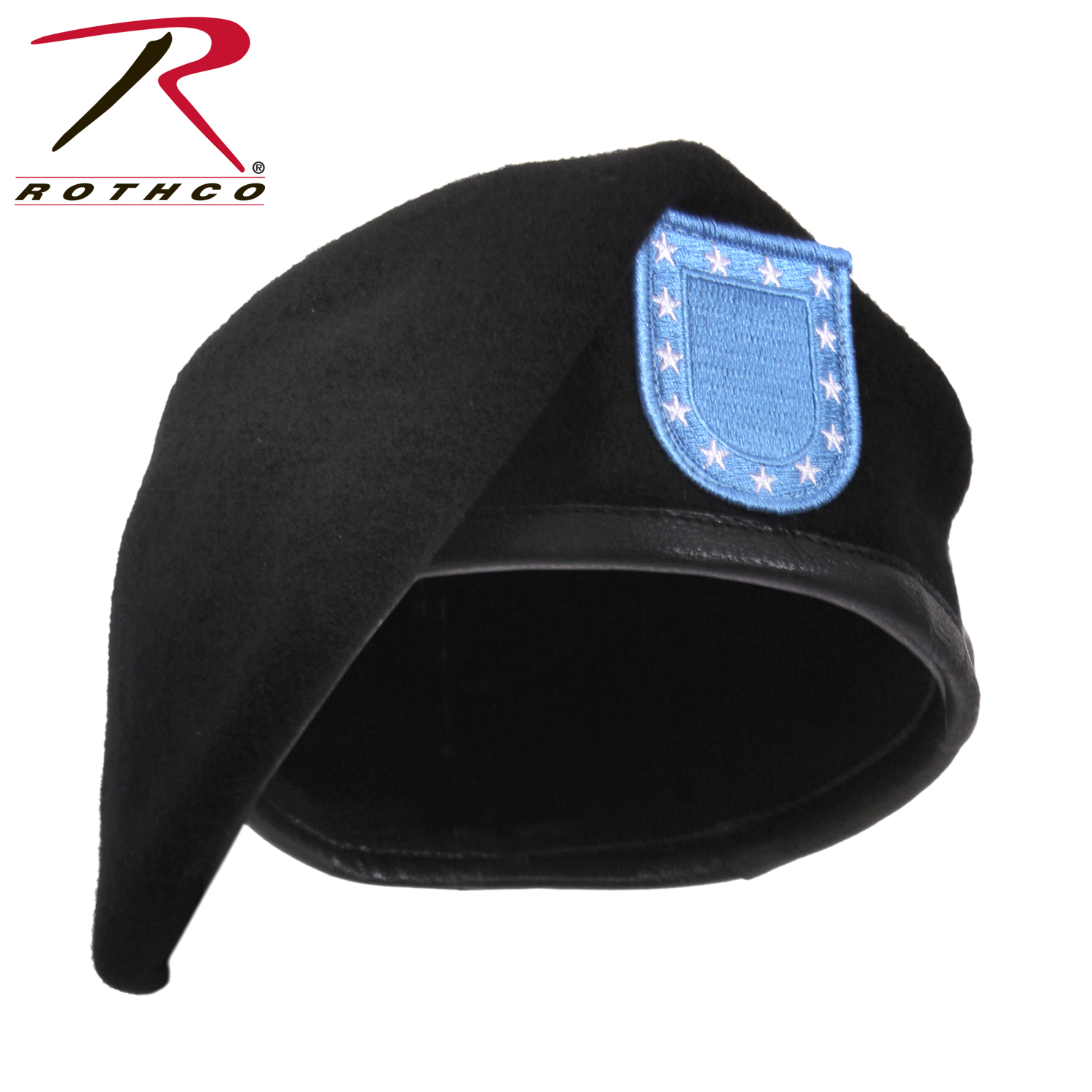 2579807dc4379 Rothco Inspection Ready Black Beret With Flash