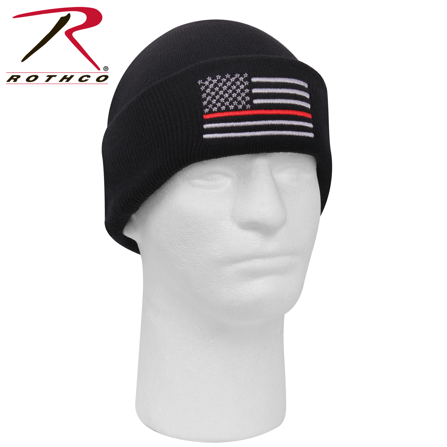 777e9c419 Rothco Deluxe Thin Red Line Watch Cap