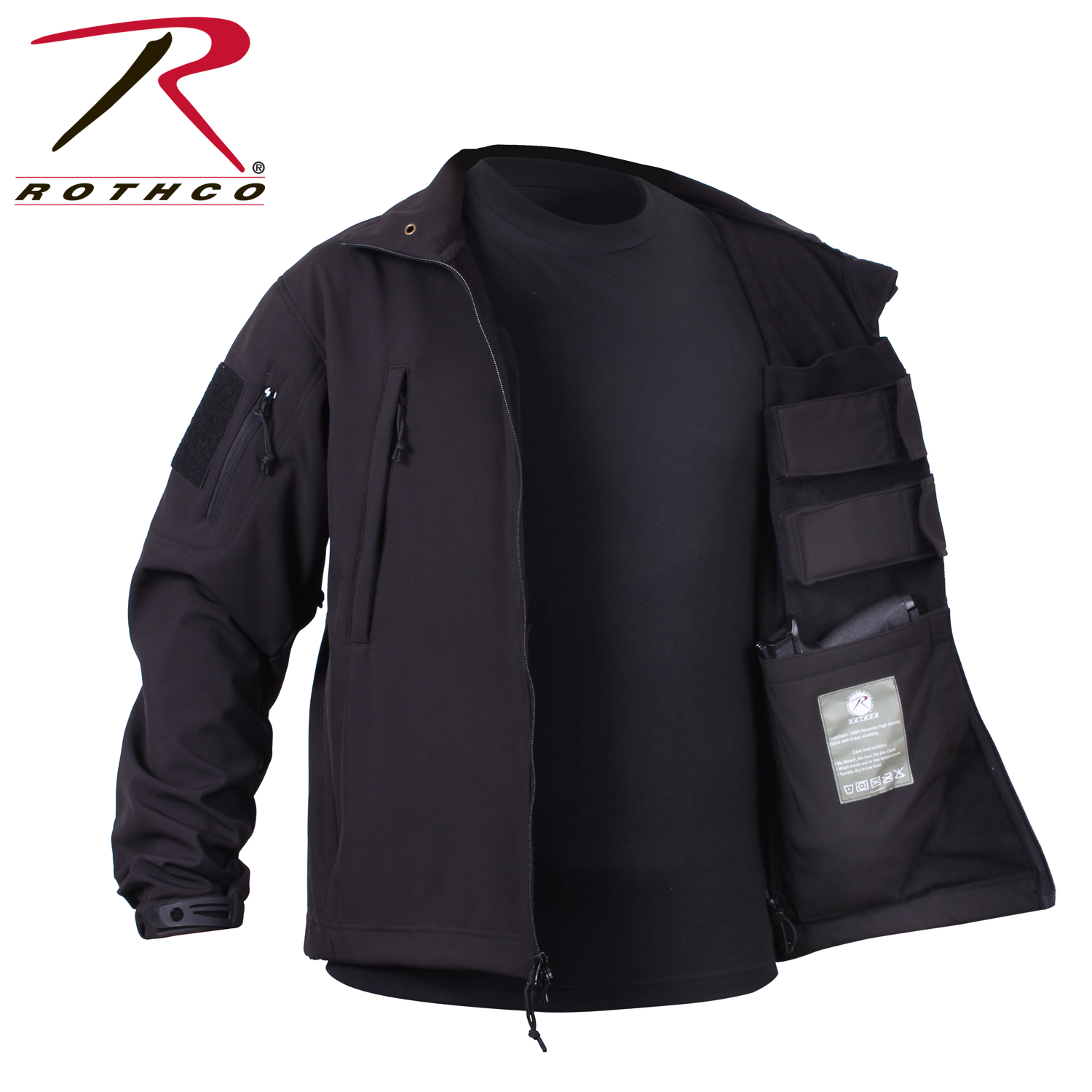 rothco 55385 concealed carry soft shell jacket black ebay