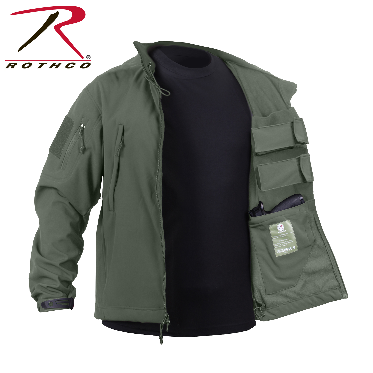 Rothco 55585 Concealed Carry Soft Shell Jacket