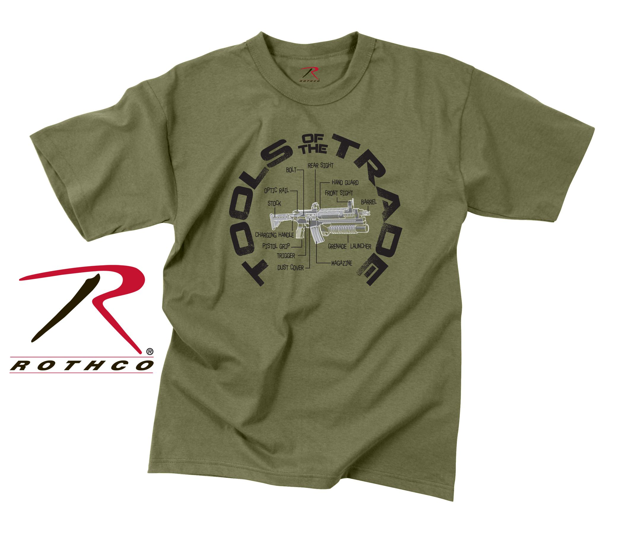 Rothco vintage tools of the trade t shirt for Trade t shirt printing