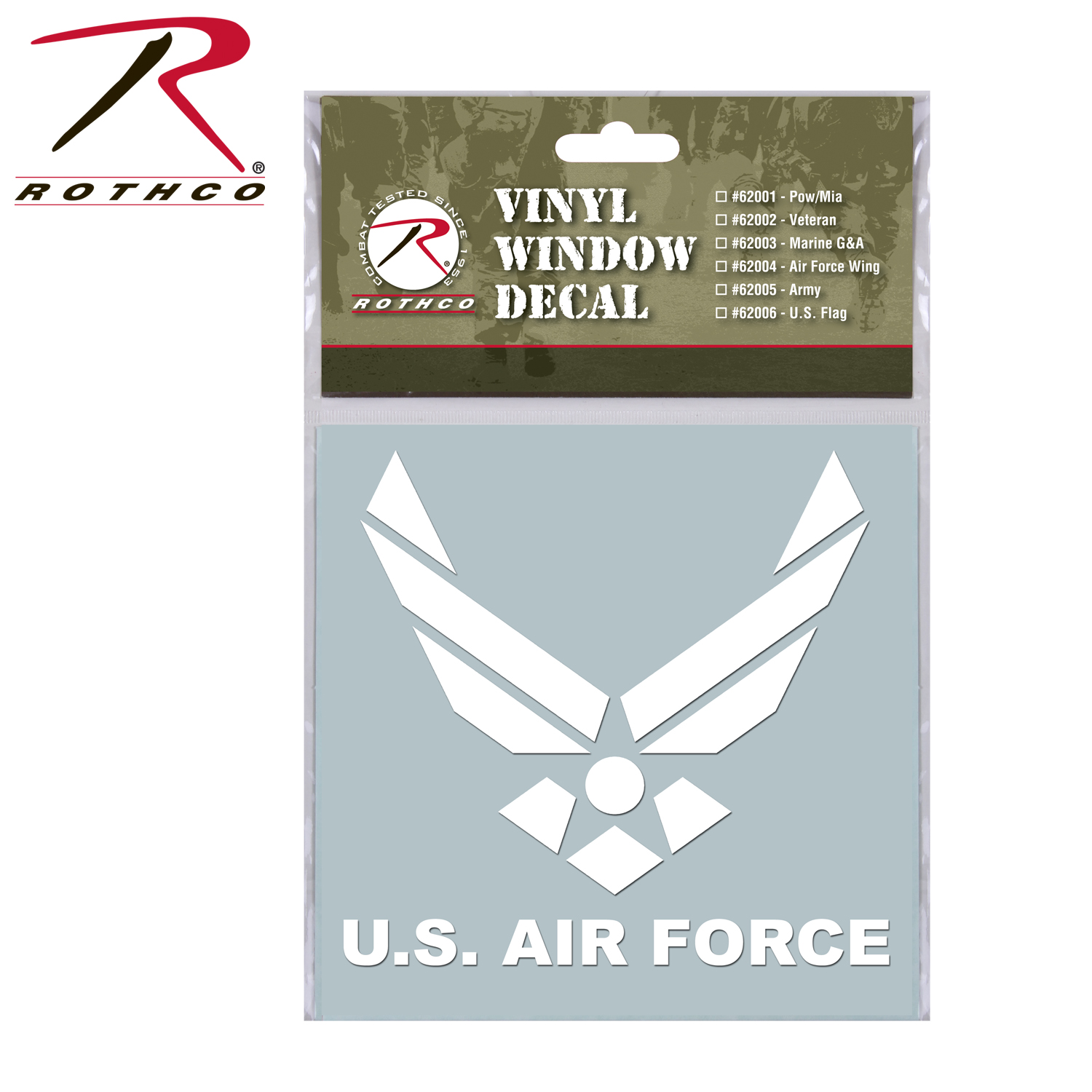 Rothco Military Vinyl Window Decal - Military window decals for cars