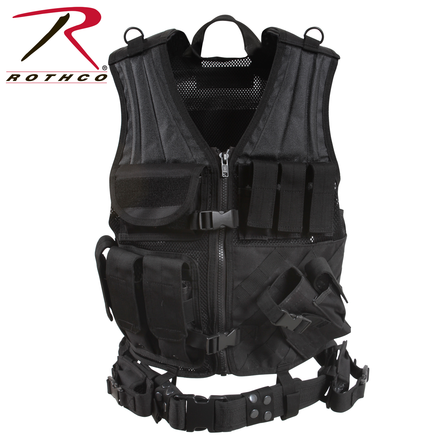 7ca231d8d320 Rothco Cross Draw MOLLE Tactical Vest