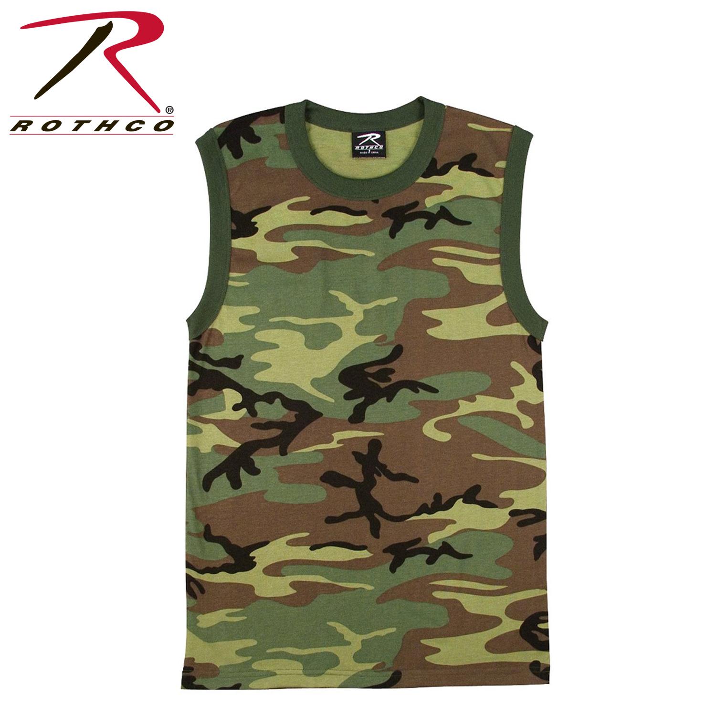 9998ac87a16f4 Rothco Woodland Camo Muscle Shirt