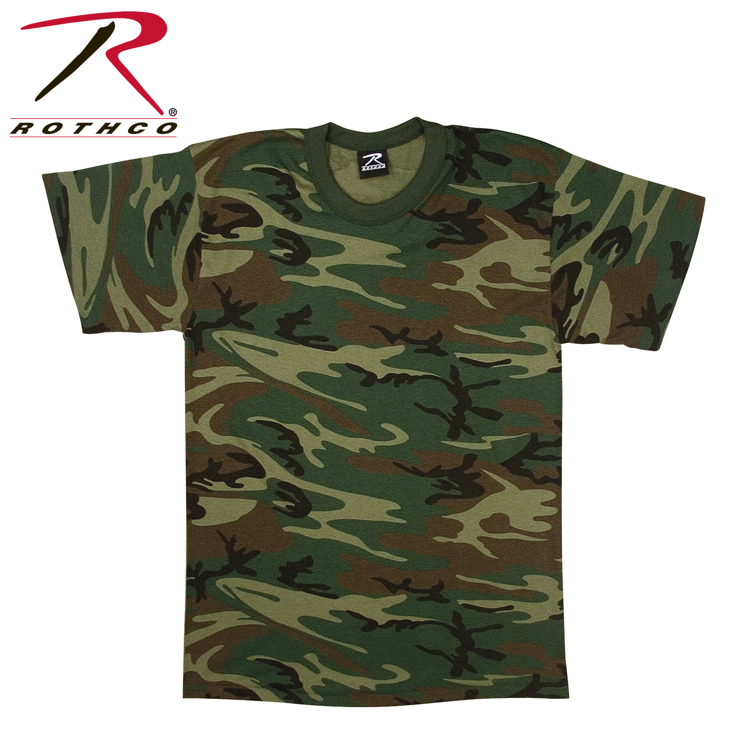 Rothco woodland camo u s made t shirt for Camouflage t shirt design