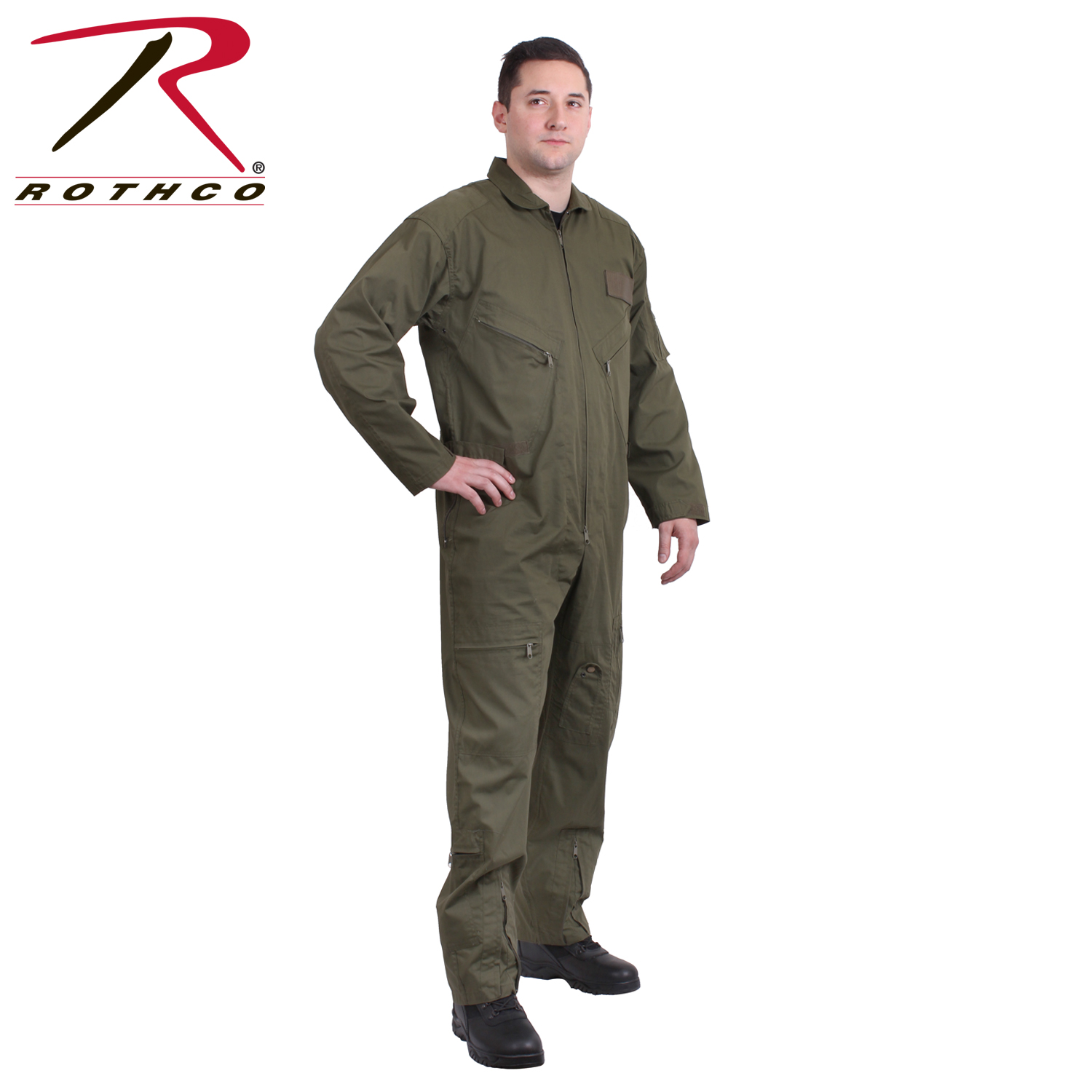 32a513d6c85 US Air Force Style Military Camouflage Flight Suit Coveralls (Olive Drab